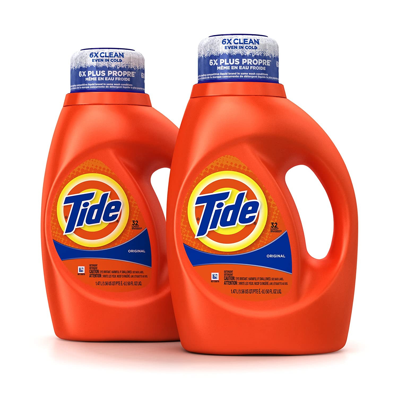 Amazon Tide Original Scent Liquid Laundry Detergent 50 Fl Oz Pack Of 2 Prime Pantry