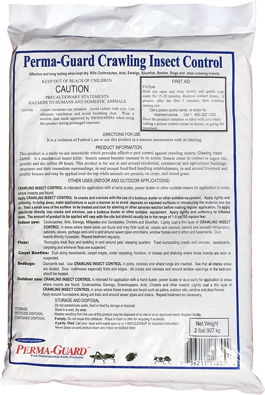 Perma Guard Crawling Insect Control Diatomaceous Earth Powder / 2 Pound Bag