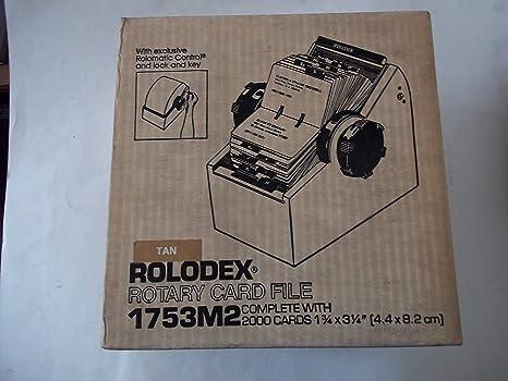 Amazon.com: Rolodex – Tarjetero rotativo 1753 M2 Tan tarjeta ...