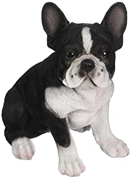 french bulldog statue black and white