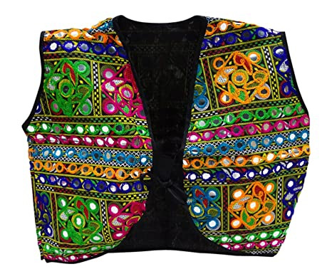 e9921acad3 Peegli Women Banjara Rajasthani Shrug Choli Indian Ethnic Kutch Embroidered  New Koti: Amazon.co.uk: Clothing