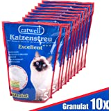 Catwell Silikat Katzenstreu | 100% biologisch abbaubar | staubfrei für Allergiker geeignet & ergiebig | kein Klumpstreu