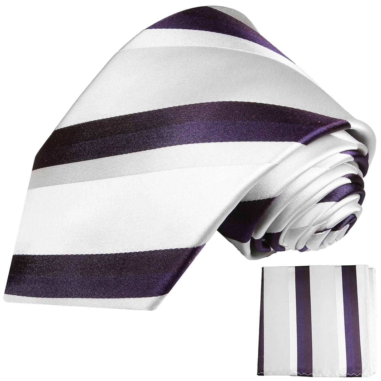 P. M. Krawatten Blanca Corbatas Juego 2 Piezas 100% seda corbata ...