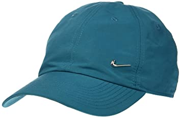 Nike U NSW 86 metal Swoosh unidad Gorro, stürmisch Azul/metal plata (estuche
