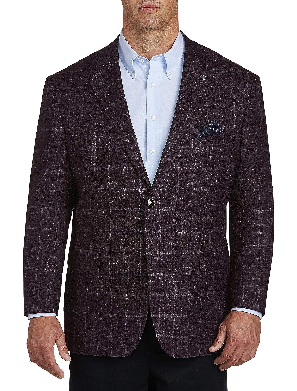 Oak Hill by DXL Big and Tall Windowpane Sport Coat