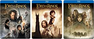 Lord of the Rings Steelbook Trilogy Set Blu Ray + DVD - The Fellowship & Return of the King Limited Edition 3 Movie