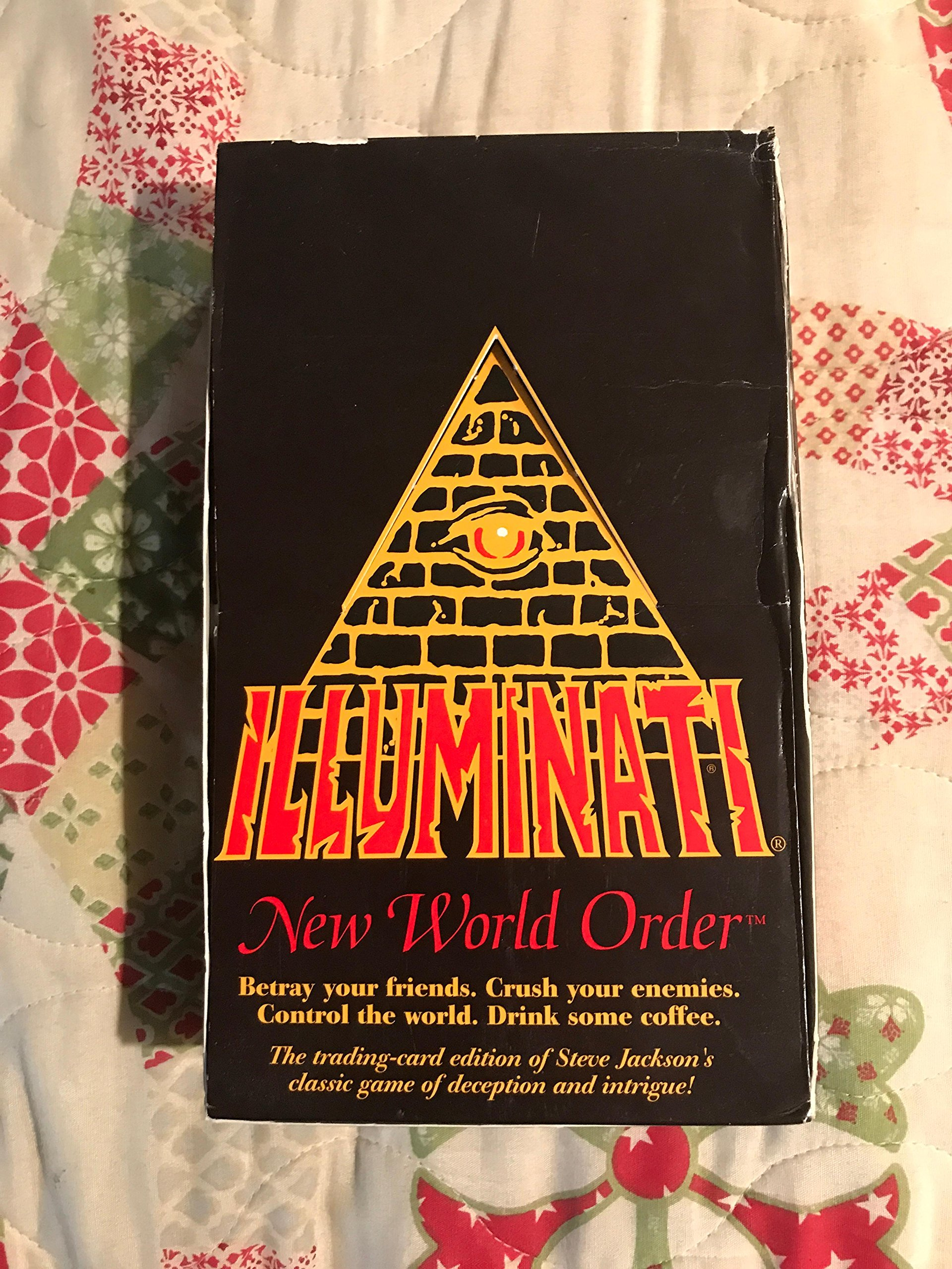 1994-1995 ILLUMINATI NEW WORLD ORDER Card Game Factory SEALED CCG (INWO: Limited Ed Booster Pack POP)(540 cards total)By Steve Jackson(Limited Edition ORIGINAL VERSION 1.1 MARCH 1994-1995) by Illuminati