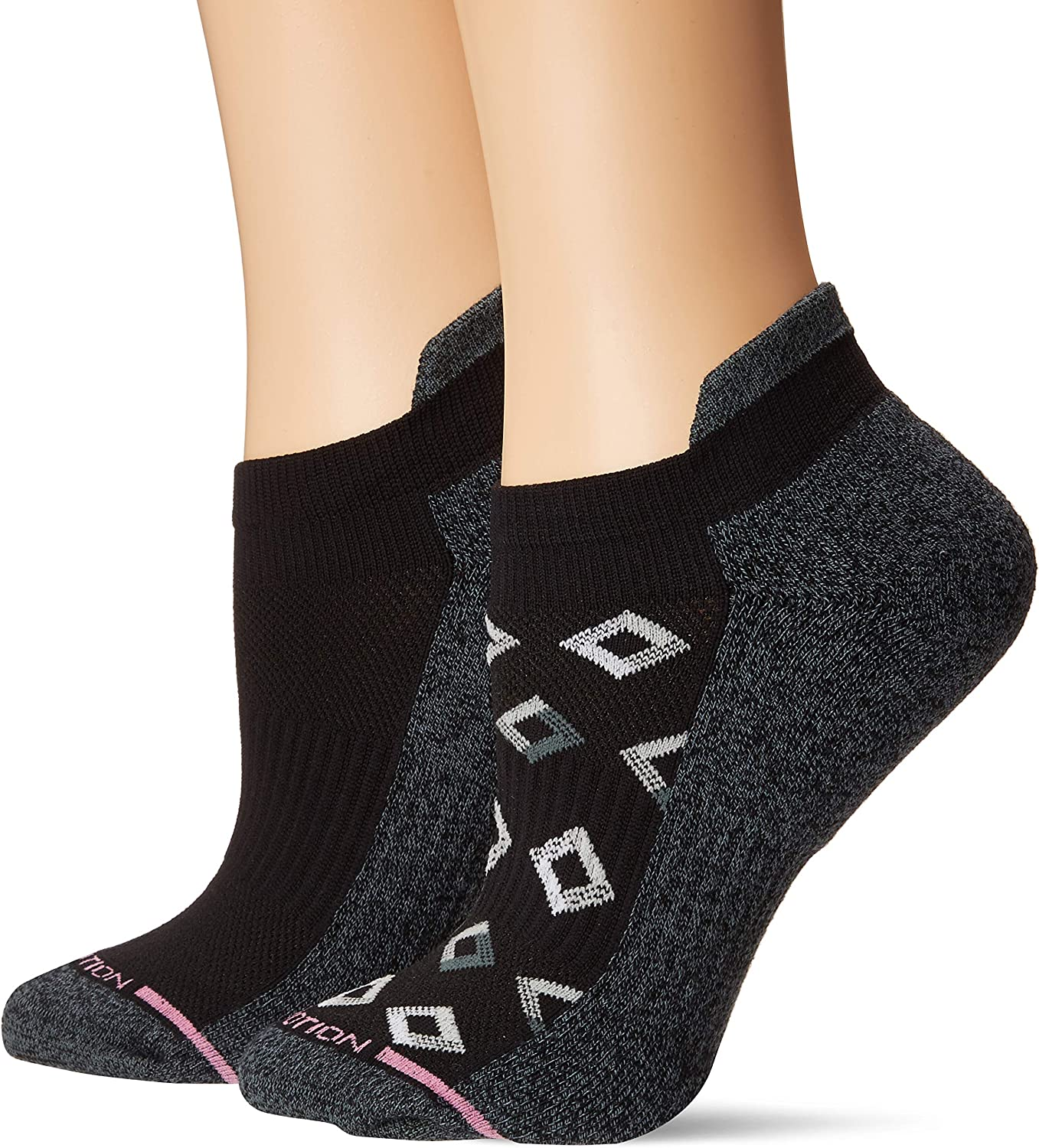Dr Motion Womens 2pk Compression Low Cut Socks