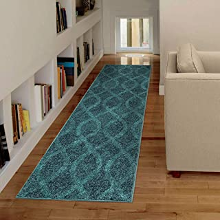 "product image for Orian Rugs Spoleto Geo Loop Geo Runner Rug, 2'3"" x 8', Aqua"
