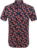 HOTOUCH Herren Hawaiihemd Hawaiishirt Urlaub Hemd Strandhemd Freizeithemd Hawaii-Print Mit Kurzarm