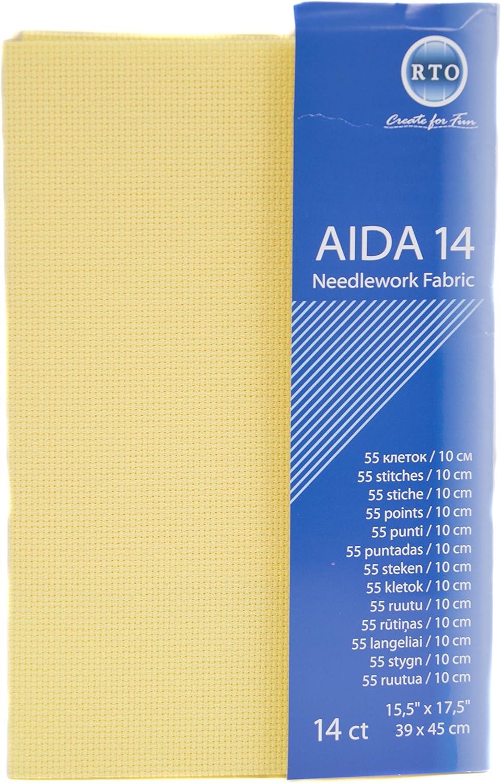 39/x 45/cm RTO Aida de 14/Hilos de Punto de Cruz Gris