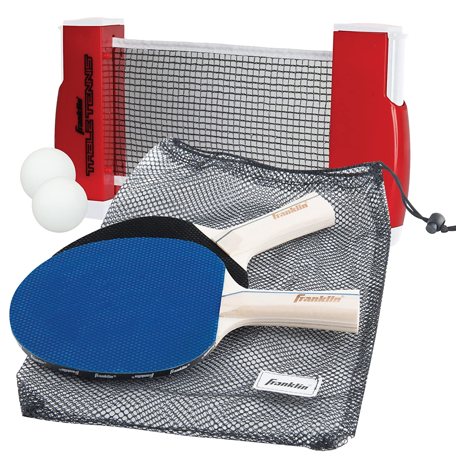 table tennis pads with net and 2 balls