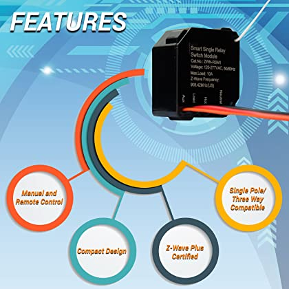 Enerwave ZWN RSM1 PLUS Z Wave Relay Plus Micro