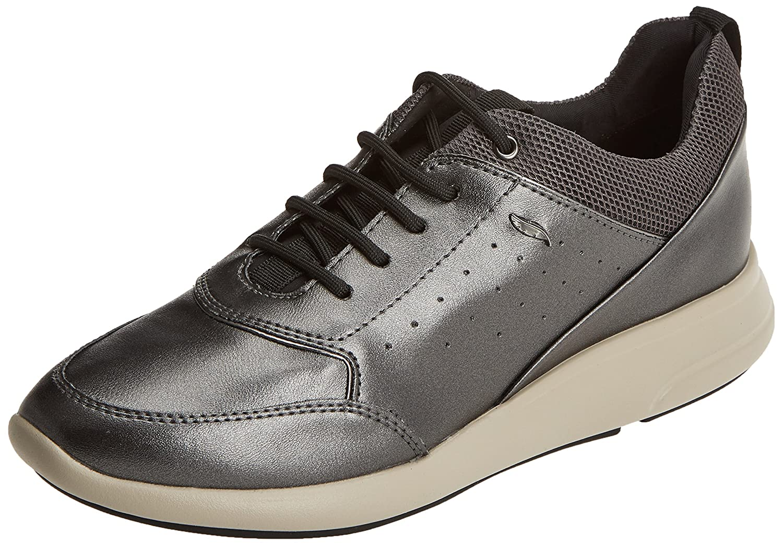 Geox D Ophira B, Zapatillas para Mujer 40 EU|Gris (Dk Grey)