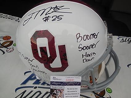 Joe Mixon Signed Oklahoma OU Sooners Bring the Wood Full Size Helmet JSA COA 548297164
