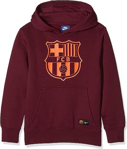 Nike Barcelona Crest Hoodie Night Maroon & Hyper Crimson
