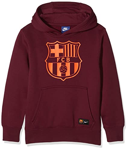 cb9e77c08 Amazon.com   Nike Youth FC Barcelona Pullover  Night Maroon ...