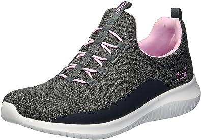 Skechers Ultra Flex, Zapatillas sin Cordones para Niñas: Amazon.es: Zapatos y complementos