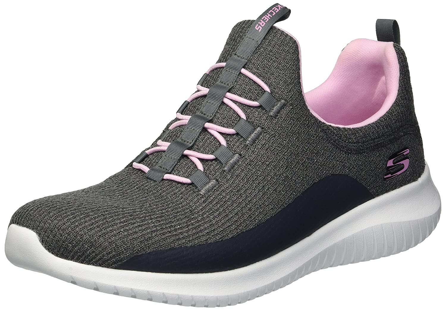 online store 8a081 2a724 Skechers Girls  Ultra Flex Slip on Trainers  Amazon.co.uk  Shoes   Bags