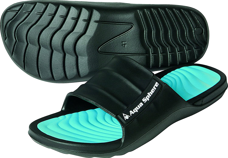 TALLA 41 EU. Aqua Sphere Wave Piscina Zapatos, Unisex, Wave, Negro/Turquesa, 41