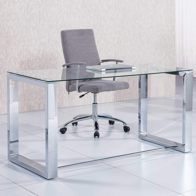 Adec Mesa de Estudio Oficina Office, Cristal Transparente y ...