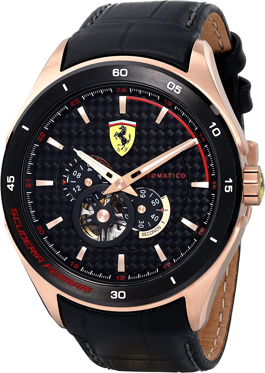 Ferrari Men s 0830108 Gran Premio Analog Display Quartz Black Watch