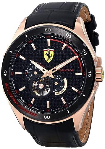 Scuderia Ferrari GRAN PREMIO 0830108 - Reloj de caballero automatico: Amazon.es: Relojes