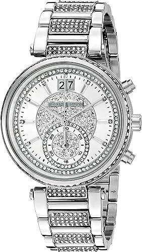 Michael Kors Women's Sawyer Silver Tone Watch MK6281