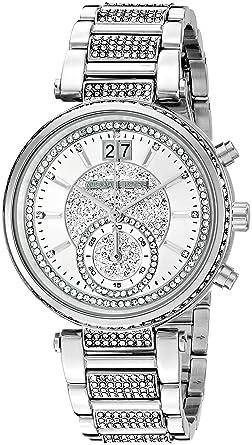 Michael Kors Women s Sawyer Silver-Tone Watch MK6281  Amazon.de  Uhren 6d517474c1