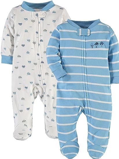 b7d78775b780 Amazon.com  Wan-A-Beez 2 Pack Boys and Girls Cotton Footed Sleep N ...