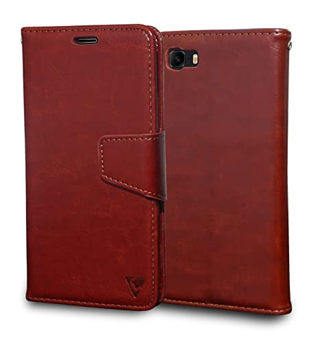 official photos 7bb8c cca32 Ceego Luxuria Wallet Flip Cover for Asus Zenfone 3s Max (5.2 inches)  (Walnut Brown)