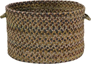 product image for Colonial Mills Natural Wool Houndstooth Basket, Latte, 14x14x10
