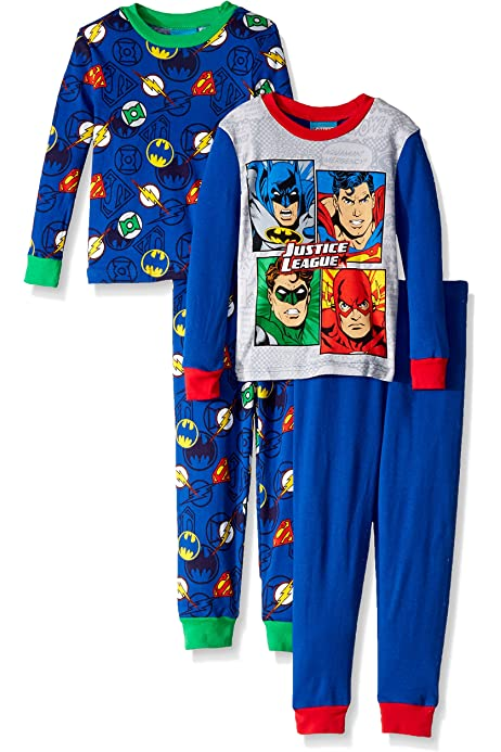 New Boys Justice League Snug Fit Long Pyjama Set Age 8//9 Years 134cm