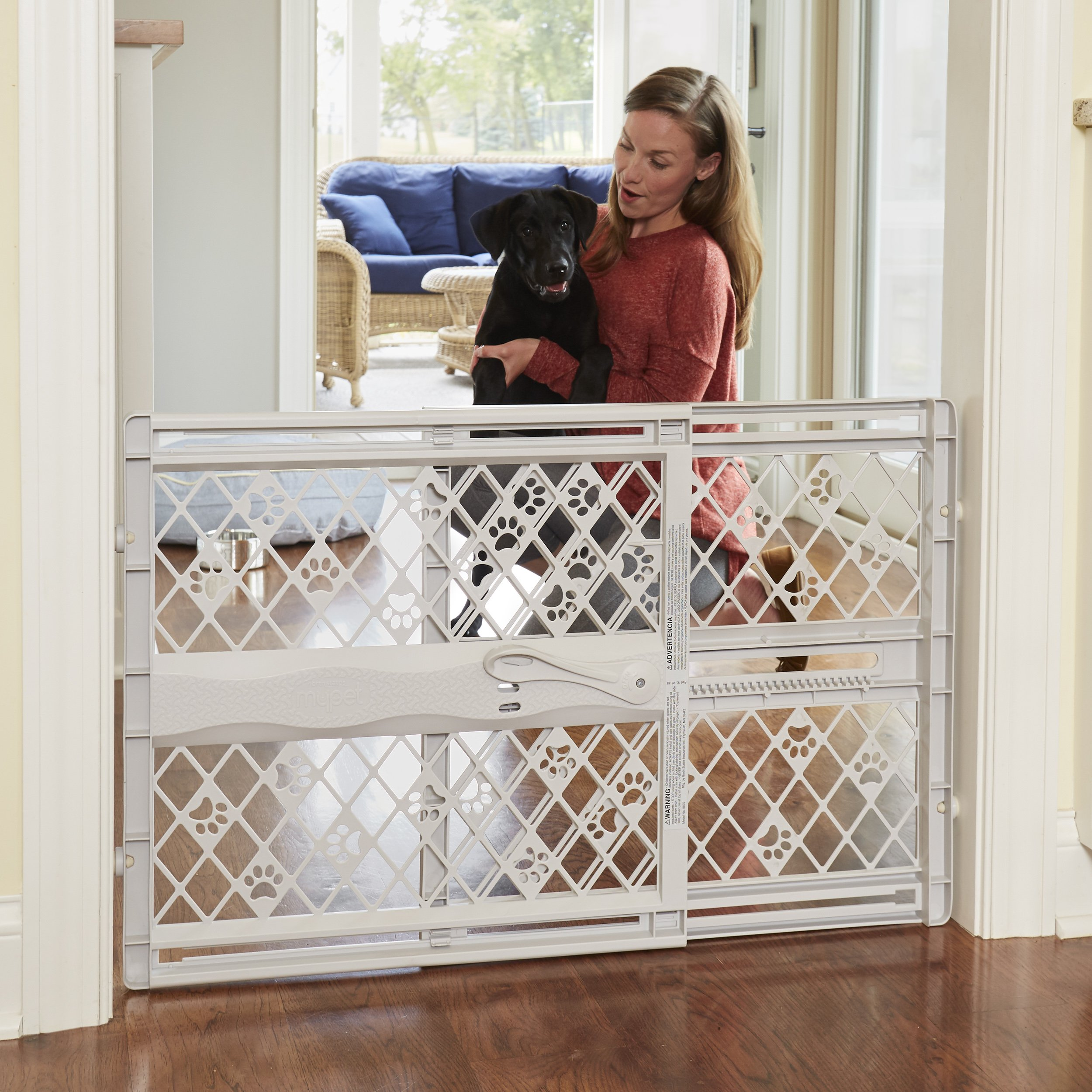 North States Pet MyPet Paws Portable Pet Gate fits Openings 26'' to 42'' Wide by North States Pet (Image #7)