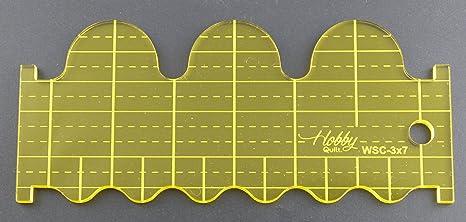 5 mm acrílico de punto de sueño Patchwork Quilting plantilla regla ...