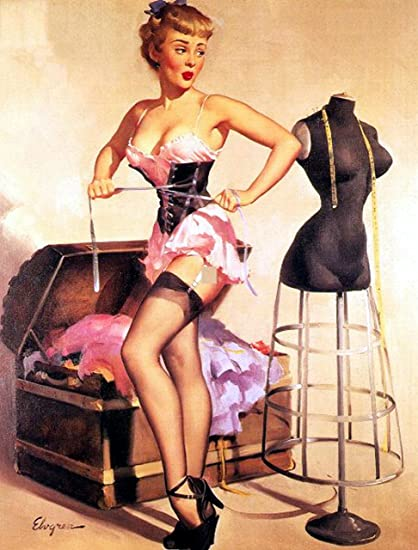 cb6c0f6f2d1 Image Unavailable. Image not available for. Color  Corset Pin-Up Girl Gil  Elvgren ...