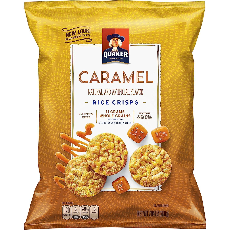 Quaker Rice Crisps, Caramel Corn, 7.04 oz Bag