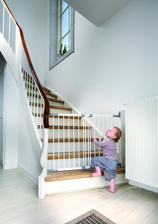 de metal color blanco//plateado blanco Metal Blanc//Argent BabyDan/ /Barrera de seguridad extensible