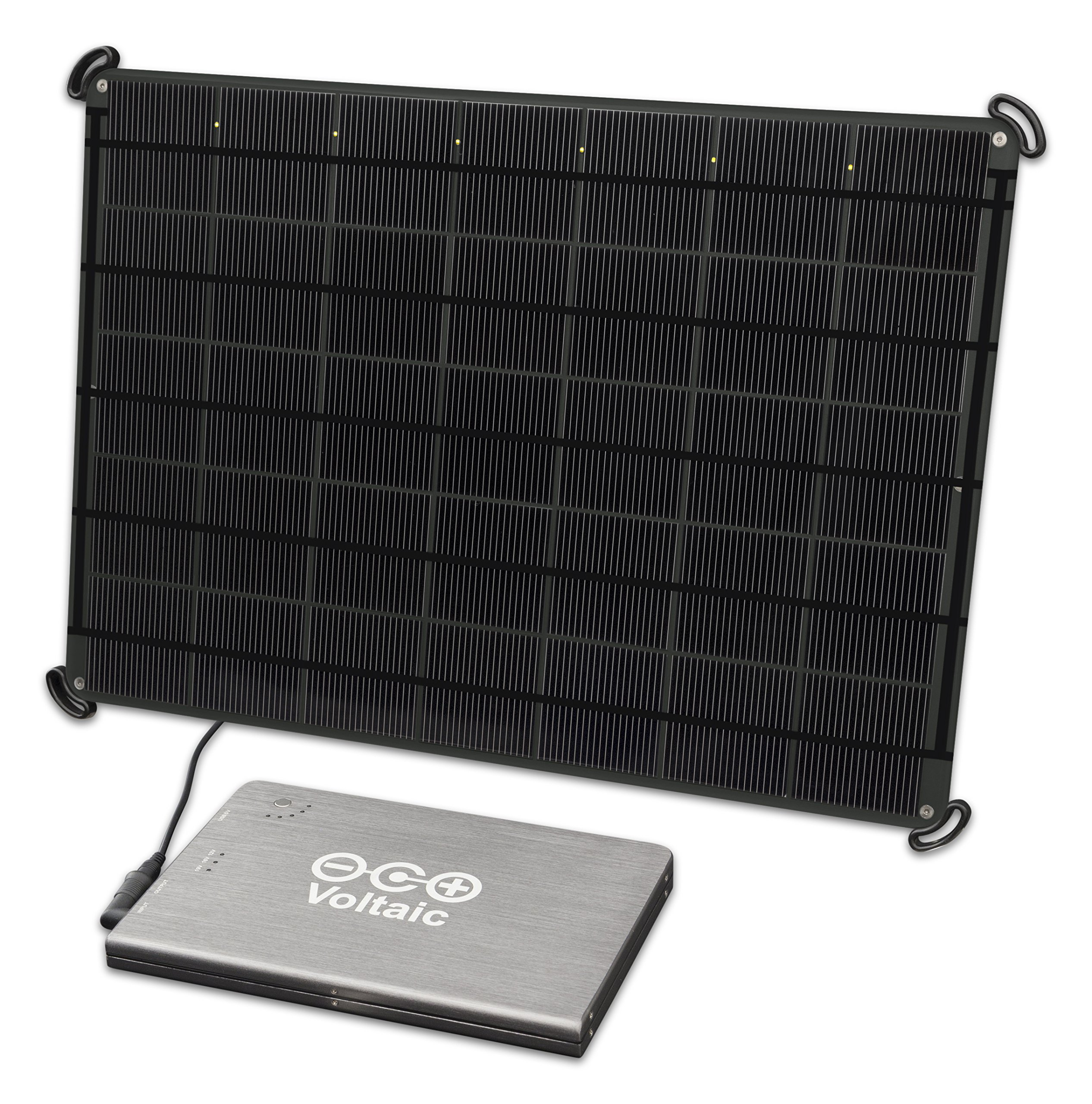 Voltaic Systems - 17 Watt Solar Laptop Charger Kit with Backup Battery Pack | Powers Laptops, Phones & USB Devices | Solar Charge your Laptop Anywhere (Charcoal) by Voltaic Systems