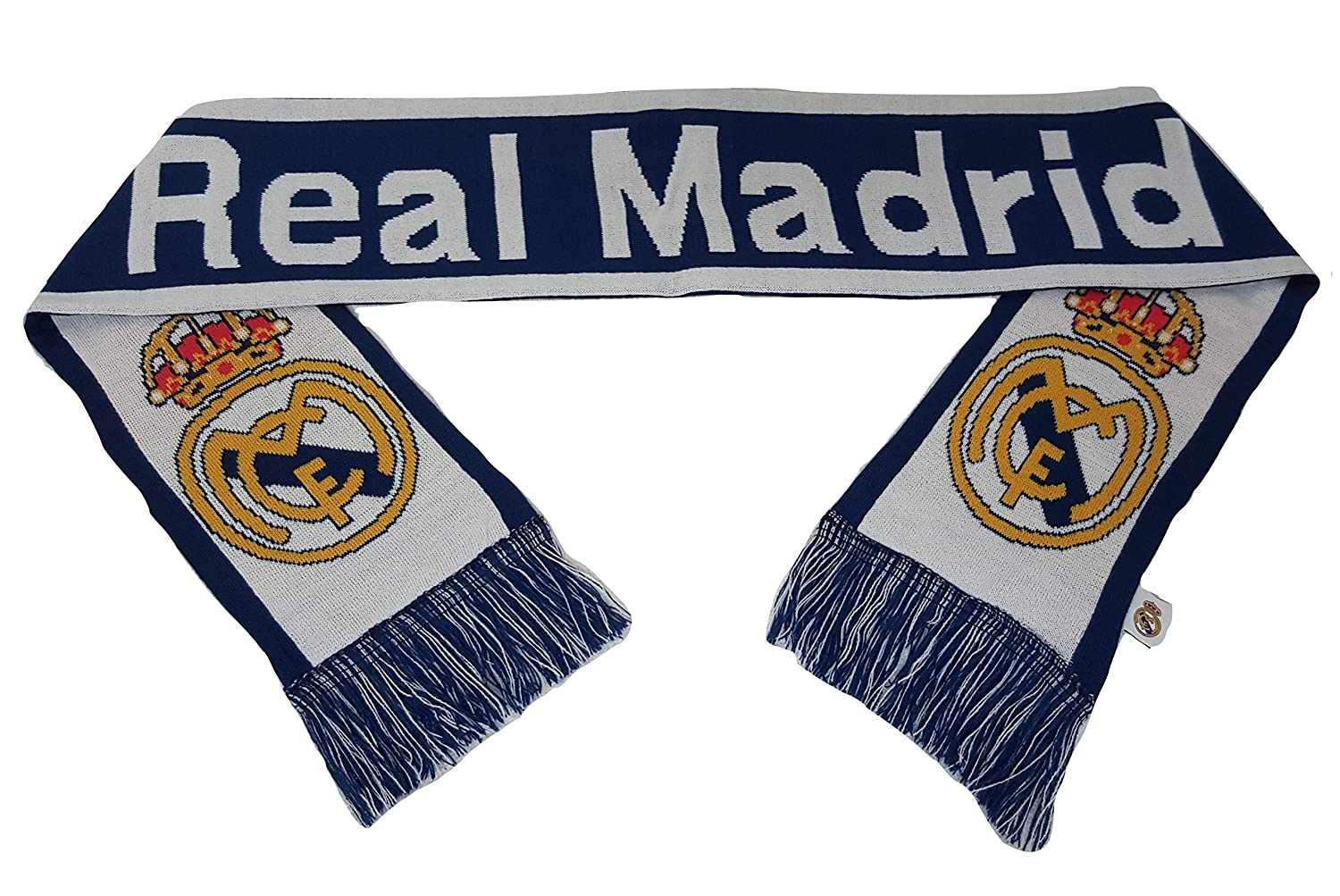 Real Madrid FC Double Sided Scarf 60 Inches Long ICON LL1G-02