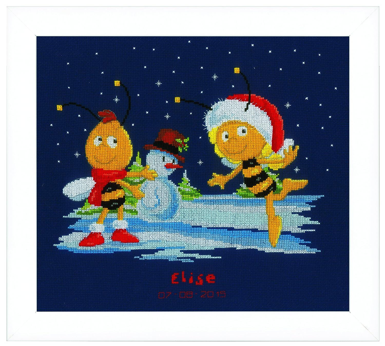 【ベルバコ】 クロスステッチ 刺繍キット 0153556 Maya & Willy in the snow 雪のマーヤとウィリー Maya みつばちマーヤ   B00NA2TCT0