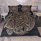 Sleepwish Gold Black Tortoise Bedding 3D Printed