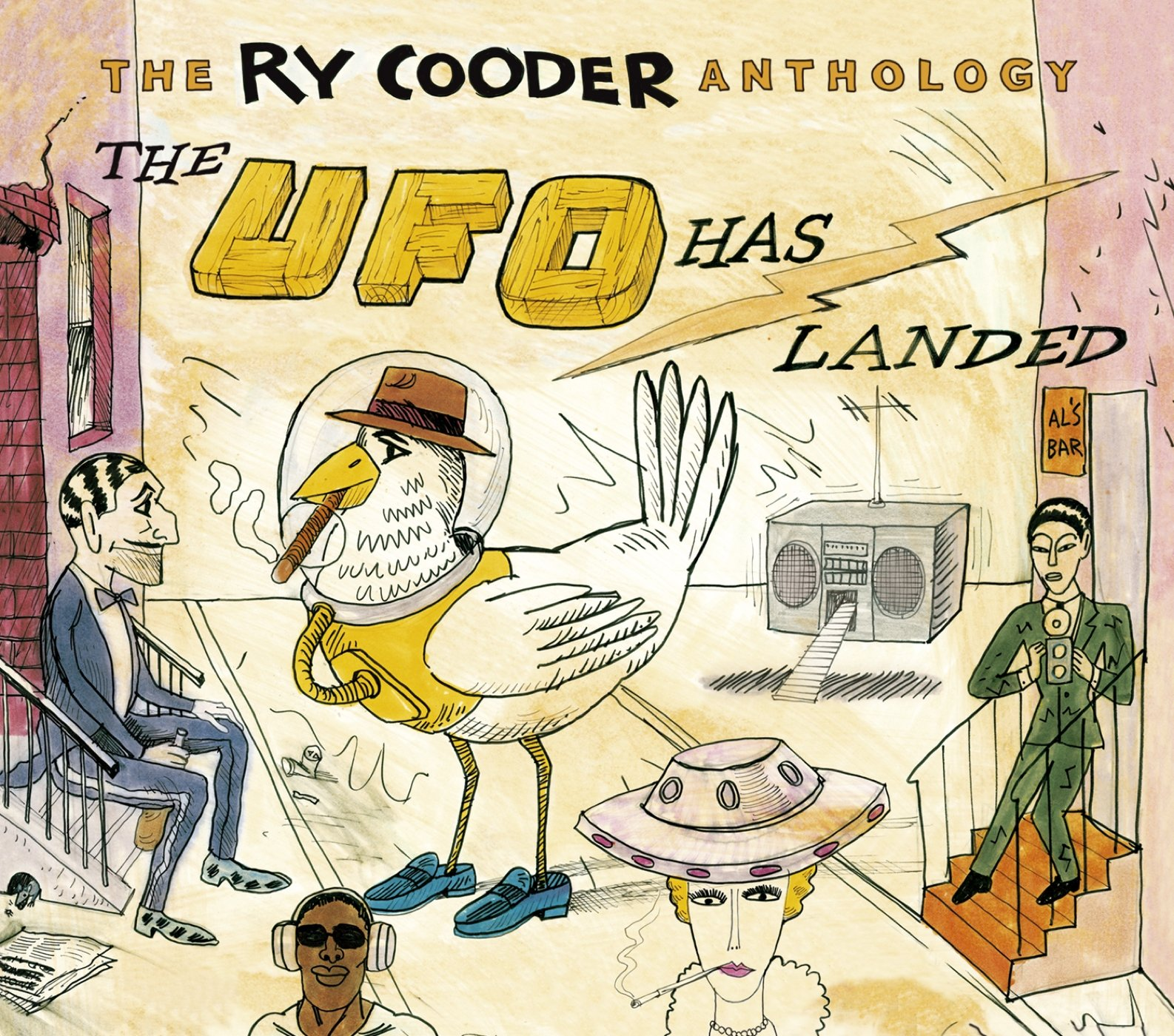 The Ry Cooder Anthology: The UFO Has Landed (2CD) by Rhino
