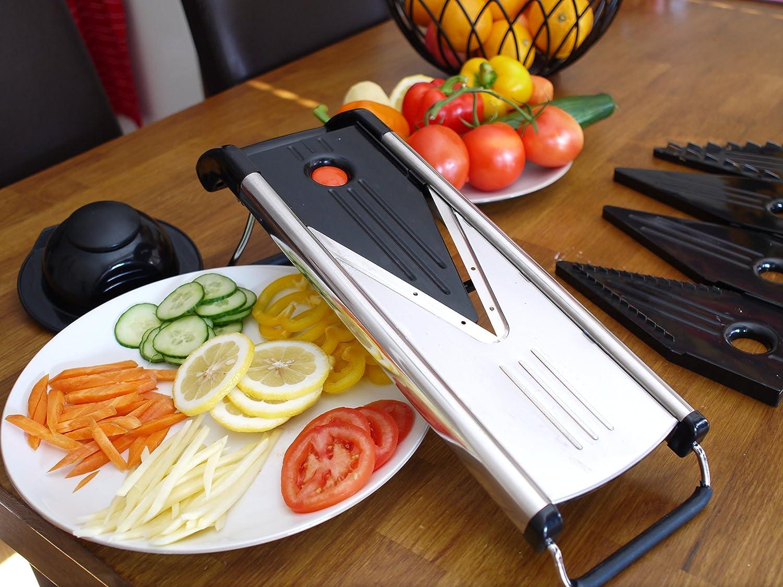 Chef's Mandoline Gemüseschneider mit Gemüse Test