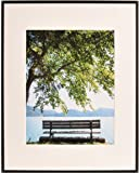 """ARTCARE BY NIELSEN 16""""X20"""" STUDIO COLLECTION MATTE BLACK FRAME, MATTED TO 11""""X14"""""""
