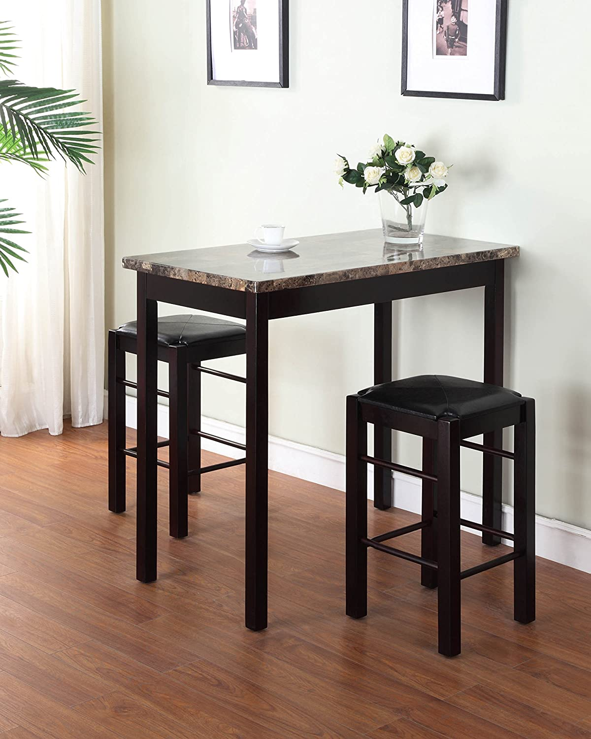 3 piece small kitchen table stools tall set high breakfast pub nook 3 piece small kitchen table stools tall set high breakfast pub nook bar space workwithnaturefo
