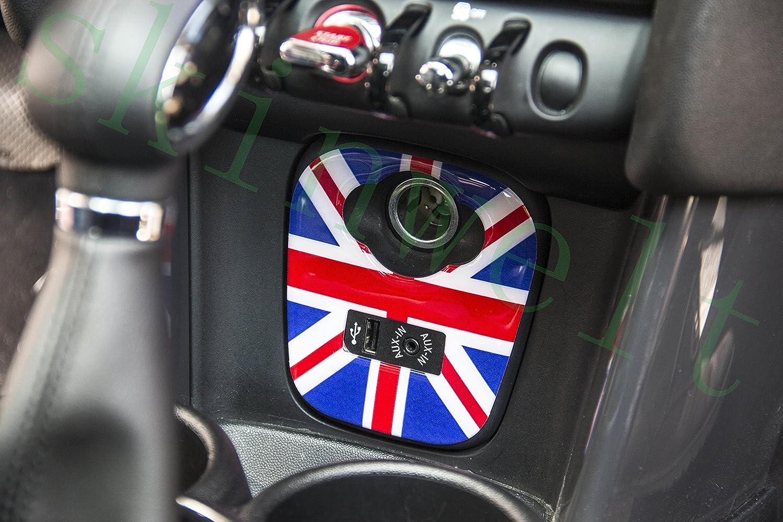 LVBAO Centro cruscotto pannello USB pannello adesivo per botola Dash Trim per mini Cooper F55/Hardtop F56/Hatchback F54/Clubman F57/Covertible