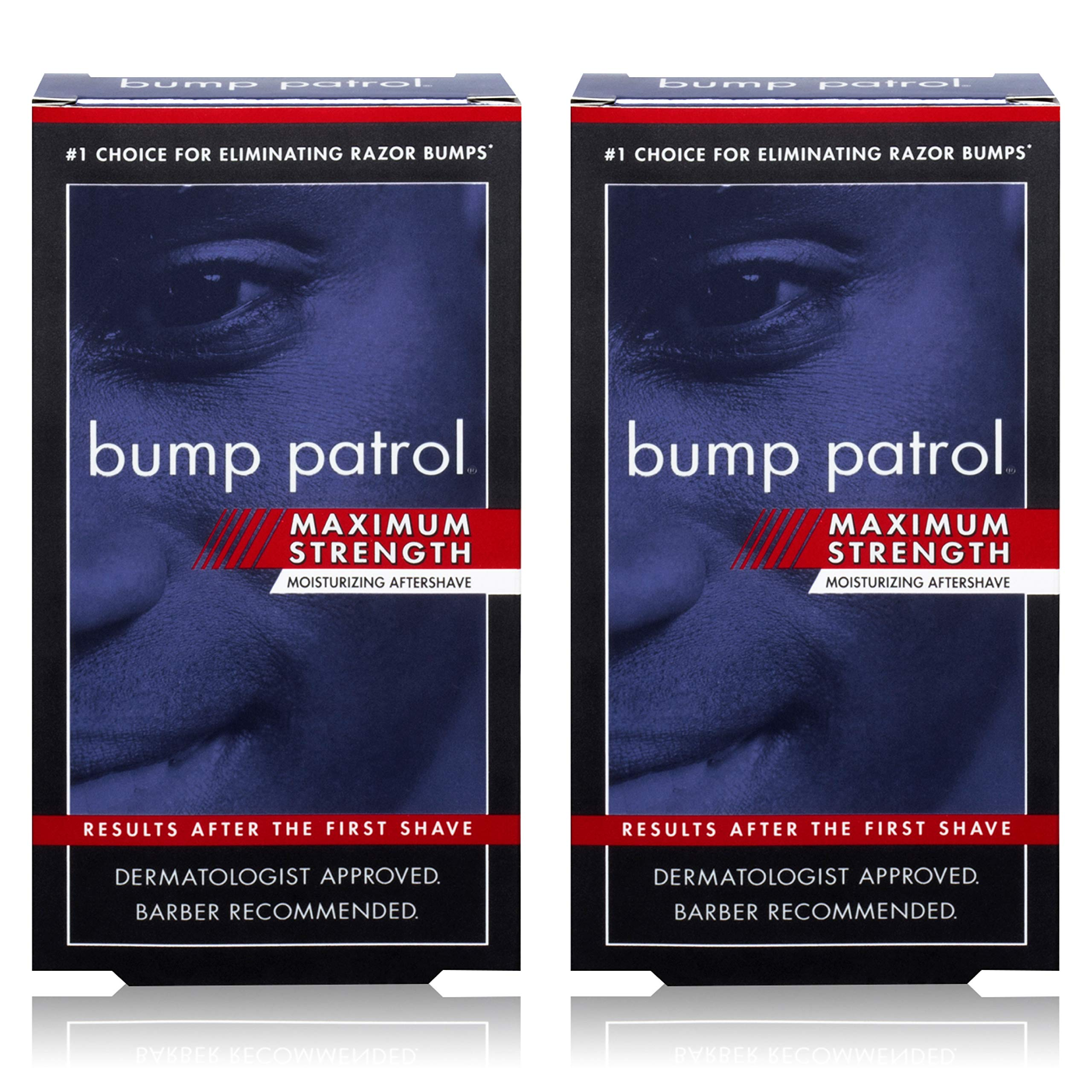 Bump Patrol Maximum Strength Dermatologist Approved Moisturizing Aftershave (2 oz) 2 Pack