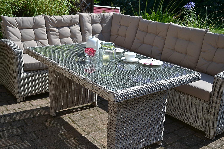 Amazon.de: Bomey Rattan Lounge Set mit Polstern I Gartenmöbel Set ...