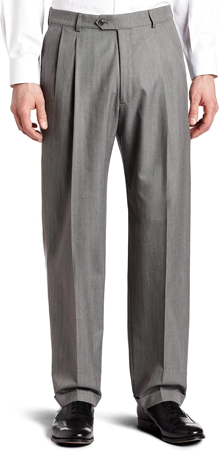 Haggar Men's Pleat-Front Cuffed Suit-Separate Pant